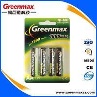 1.2v 1800mah aa rechargeable battery