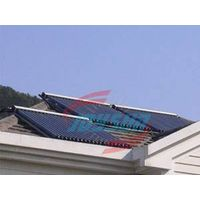 solar water heater with heat pipe collector