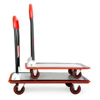 Red Deluxe Platform Trolley