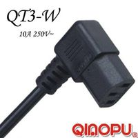 IEC C13-Right Angle Laptop Computer Power Cord (QT3-W)