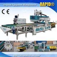 cnc router with load unload system