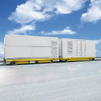 Container handling vehicles used in ports terminals logistics