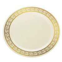 Dispoable solid color round plastic plate