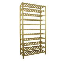 Wooden 9/10/11-Tier Part-Assembled Shoe Rack- Solid Unfinished Pine thumbnail image