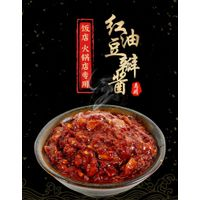 6000gChinese Sichuan Chili Sauce Pixian Broad Bean Sauce with chili oil in bucket condiment for res