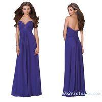 Wholesale chiffon purple evening / prom dress (Pur9110)
