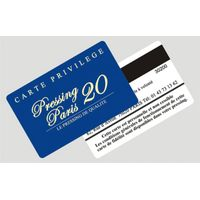 Factory price card size PVC magnetic stripe card with embossed numbering and barcode thumbnail image