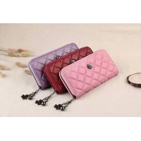 Fashion Card Purse, Leather Long Wallet for Girls