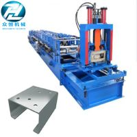 Hydraulic cutting Galvanized Steel C U Z Channel Roll Forming Machine for 3mm thumbnail image