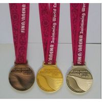 Custom Gold Swimming Award Metal Medals And Ribbon