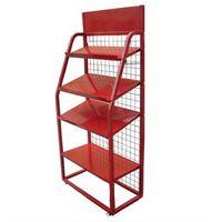 Fashion Red Metal Display Stand Shelf