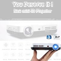 OEM High Brightness Portable 3D Led mobile Home DLP Projector
