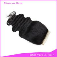 Indian Virgin Human Hair free part lace closure Body Wavy