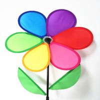 Multicolor Fordable Rainbow Flower Windmill String Whirligig Wheels Garden Camping Decoration for Fe