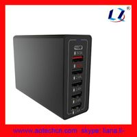 High Speed Desktop family size 60 Watt usb wall charger 6-Port thumbnail image