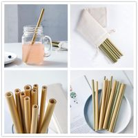 Organic composable reusable bamboo drinking straws