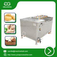 Brush peeling washing machine Stainless Steel Fruit washing machine thumbnail image