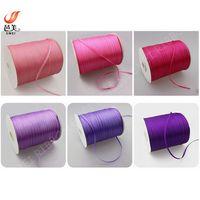 manufactory cheap price 100% polyester 3mm satin ribbon thumbnail image