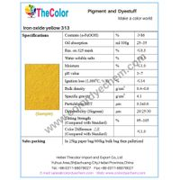 High purity synthetic pigment iron oxide yellow 313