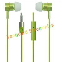 Green Fashion metal earphone