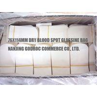 Glassine dry blood spot bags