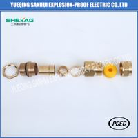 Ex Atex Flameproof brass cable gland