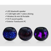 LED portable outdoor handfree NFC bluetooth 4.0 wireless mini speaker