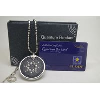 stainless steel quantum science energy pendant with ring cover paypal accept
