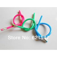 1000pcs free shipping for DHL or FEDEX Customized 30cm pvc soft pencils with 1color logo ,flexible p