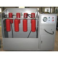 hydraulic test machine integral with cleaning
