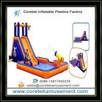 inflatable plastic water slide games