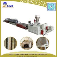 PVC Artificial Faux Marble Strip/Corner Profile Plastic Making Machine Extruder