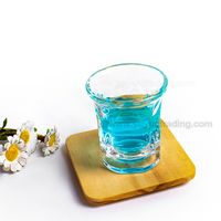 Mini Round Mouth Square Clear Glass Cup for Drinking White Wine And Whiskey thumbnail image