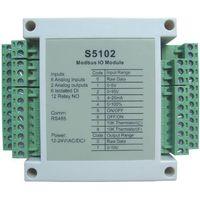 S5102:8-ch analog input,2-ch 0-10V analog output,12-ch relay output,modbus rtu rs485