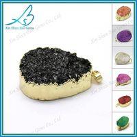 Wholesale blue natural druzy stone pendant thumbnail image