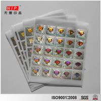 Security hologram sticker label with Diamond Pattern