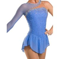 figure skating dress Women Custom ice blue figure skating dress