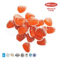 Double layer gummy strawberry chewy candy