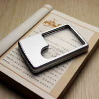 Credit Card 3x 6x magnifying LED Light Jewelry Loupe Magnifier+Leather Case thumbnail image