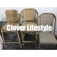 Elegant aluminum bamboo look french cafe rattan bistro chair by Clover Lifestyle thumbnail image