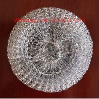 Hot sale kitchen cleaning household galvanized mesh scourer