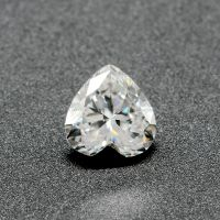 Excellent White Heart Moissanite