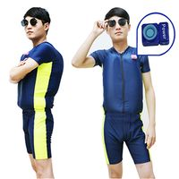 Manual inflatable swimsuits rescue vest for adults