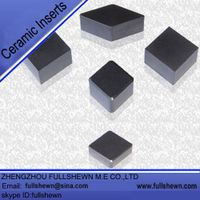 Ceramic inserts for metalworking