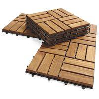 Outdoor deck tiles, garden solid teak wood flooring with plastic base