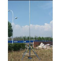 6-18m telescopic mast with tripod stand endzone camera