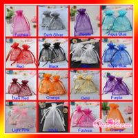 """Strong Sheer Organza Pouch 4x6"""" 10x15cm Wedding Favor Jewelry Gift Candy Bags"""
