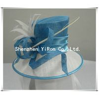YRSM13062 sinamay hat,church hat, occasion hat, derby hat,race hat