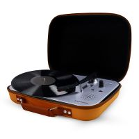 Portable Vinyl Record Turntable Player With Bluetooth and Carry Bag thumbnail image