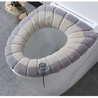 Toilet Mat Sets Non Slip Microfiber Bath Shower Mat U-Shaped Toilet Rug Combo Set thumbnail image